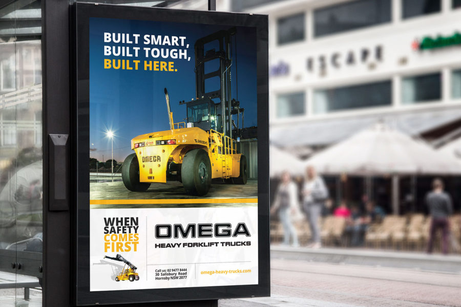 Omega bus advertising